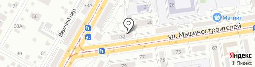 Глазовский на карте Екатеринбурга