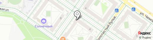 Солнечный на карте Екатеринбурга