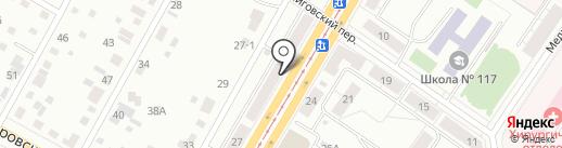 Рубль на карте Екатеринбурга