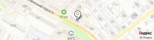 КОЛОБОК на карте Верхней Пышмы