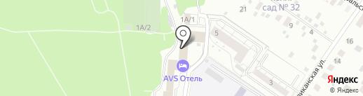 Веселый жираф на карте Екатеринбурга