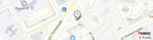Веселые медузы на карте Екатеринбурга