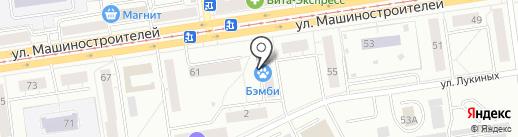 Бэмби на карте Екатеринбурга