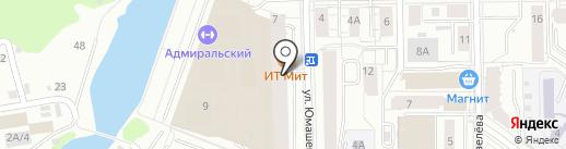 Руна на карте Екатеринбурга