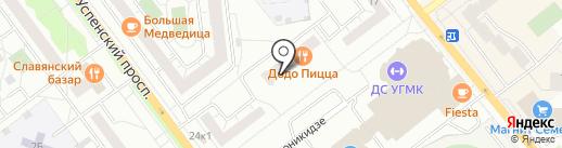 УГМК-Телеком на карте Верхней Пышмы