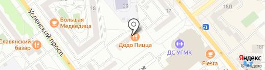 Спа Престиж на карте Верхней Пышмы