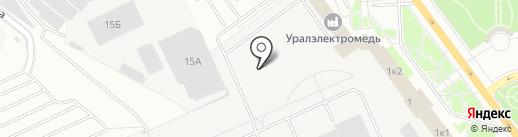 Уралэнергоцветмет на карте Верхней Пышмы
