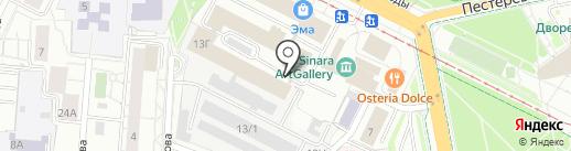 ЭМА FITNESS на карте Екатеринбурга