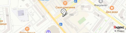 Среднеуральская на карте Верхней Пышмы