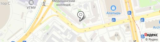 АЕ-АВТОЗАПЧАСТЬ на карте Екатеринбурга