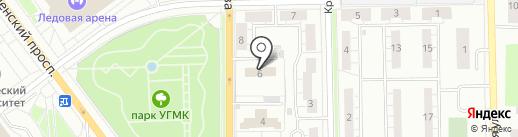 Верхнепышминский центр занятости населения на карте Верхней Пышмы