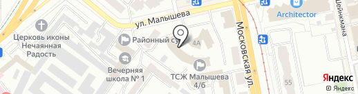 B & B на карте Екатеринбурга