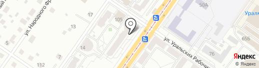 Атомстройкомплекс, НП на карте Екатеринбурга