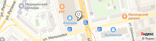 Иголочка на карте Екатеринбурга