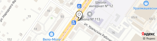 Морской пехотинец на карте Екатеринбурга