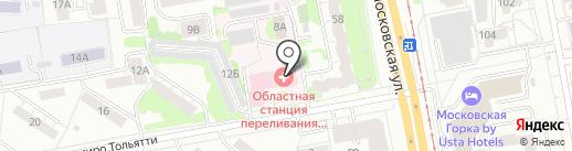 Областная станция переливания крови на карте Екатеринбурга