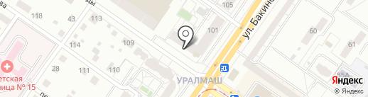 ГлаМУР на карте Екатеринбурга