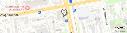 Полевской механический завод на карте Екатеринбурга