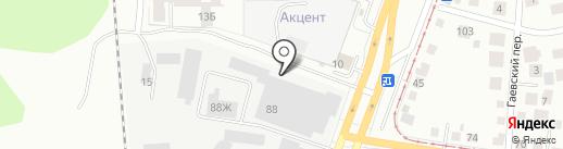 Сауна на карте Екатеринбурга
