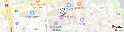 Свобода на карте Екатеринбурга