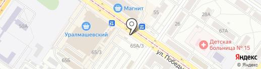 Сыто Место на карте Екатеринбурга