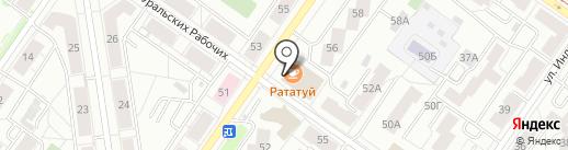 Хлебничная на карте Екатеринбурга
