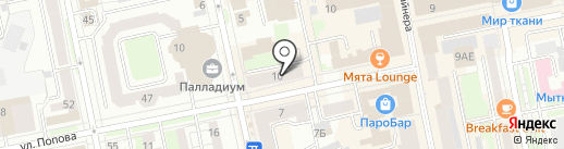 Злата на карте Екатеринбурга