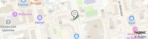 Джой на карте Екатеринбурга