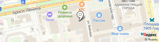 Уральский институт фитнеса на карте Екатеринбурга