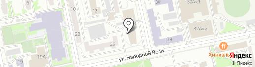 Адвокатский кабинет Прикуль Н.Ю. на карте Екатеринбурга