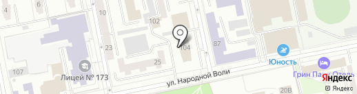ЛЕКС на карте Екатеринбурга