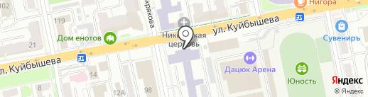 Уральский государственный горный университет на карте Екатеринбурга