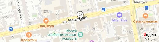 Студия красоты Елены Алешкевич на карте Екатеринбурга