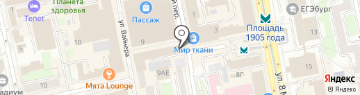 Барахолка на карте Екатеринбурга