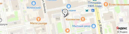 БИНБАНК, ПАО на карте Екатеринбурга