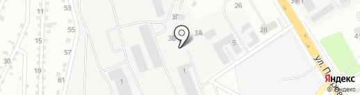 Колесо на карте Верхней Пышмы