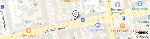 Цветочный магазин на карте Екатеринбурга
