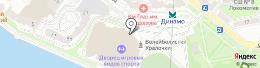 Уралбилет на карте Екатеринбурга