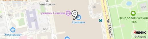 RICHI на карте Екатеринбурга