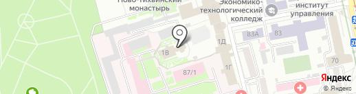 Церковь Всех Святых на карте Екатеринбурга
