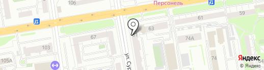 Ивея на карте Екатеринбурга