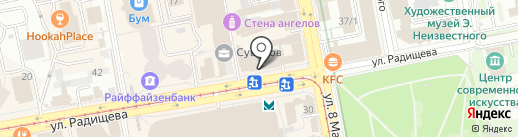 ЮМ на карте Екатеринбурга
