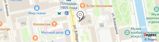 Сердца на карте Екатеринбурга