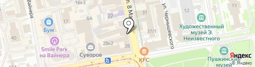 Меркурий на карте Екатеринбурга