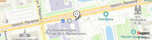На плотинке на карте Екатеринбурга