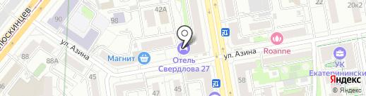 Свердлова27 на карте Екатеринбурга