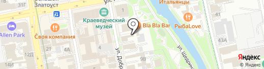 Gravura на карте Екатеринбурга