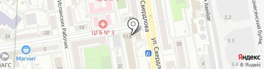 ЮРАЛЕКС на карте Екатеринбурга