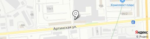 Лестницы Екатеринбурга на карте Екатеринбурга