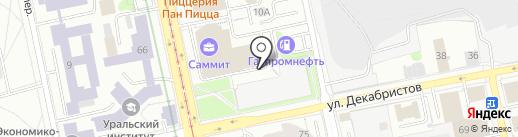 Серебряный дождь, FM 88.8 на карте Екатеринбурга